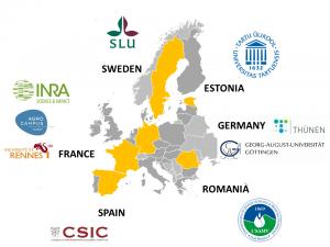 Prog SoilMan PartnersWithLogo MapEurope